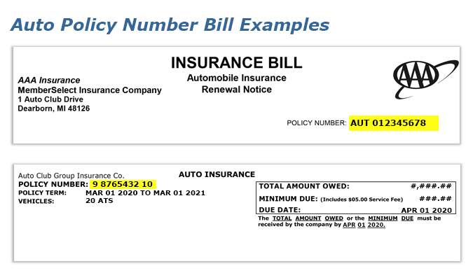Aaa Find Your Auto Insurance Policy Number