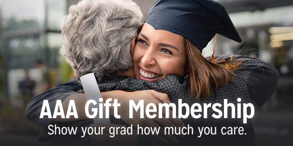 Give your graduate the gift of AAA membership