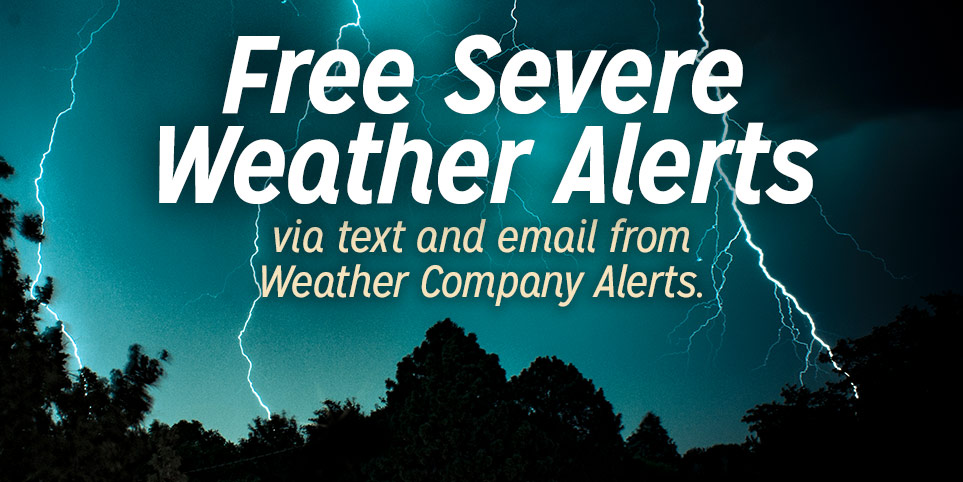 weather alerts by text and email