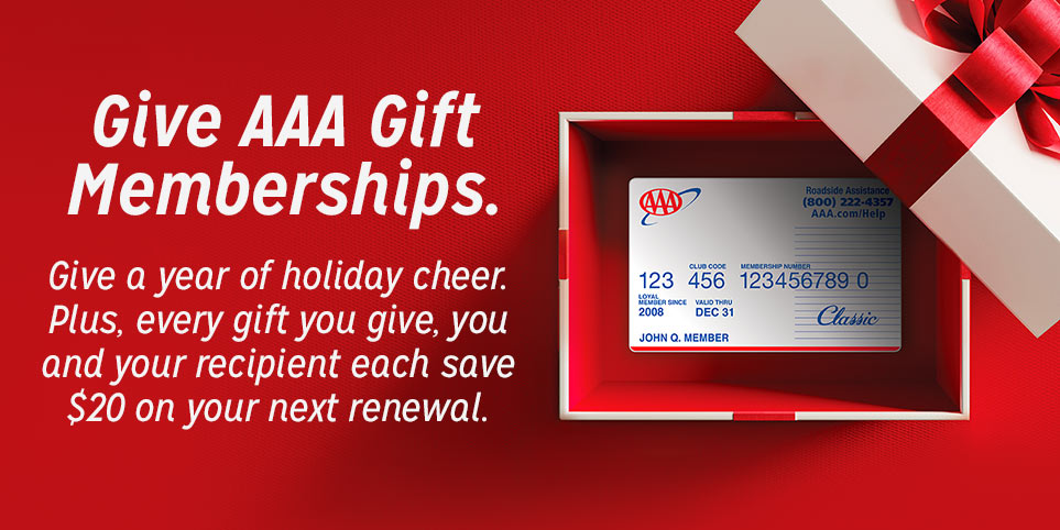 Give AAA membership as a gift