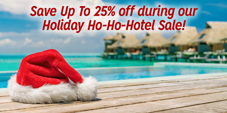 Save up to 25% off on hotels