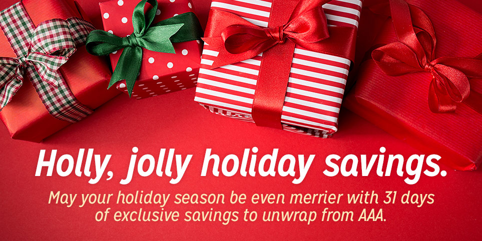 Holiday AAA discounts and savings